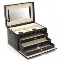 Friedrich Lederwaren Škatla za nakit črna / bež Jolie 23254-20