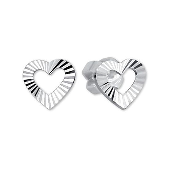 Brilio Silver Srebrni uhani za srce 431 001 01372 04 - 0,72 g