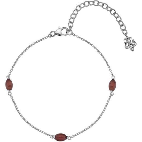 Hot Diamonds Srebrny bransoletka dla urodzonych w lipcu Anais Karneol AB007