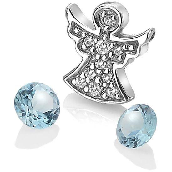 Hot Diamonds Ezüst angyal medál kék topáz elemmel Anais AC104 ezüst 925/1000