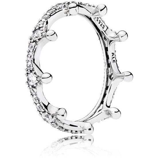 Pandora Překrásný stříbrný prsten Začarovaná koruna 197087CZ stříbro 925/1000