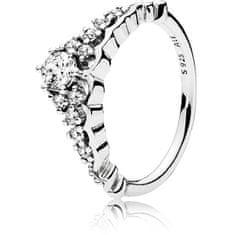 Pandora Třpytivý stříbrný prsten Diadém 196226CZ (Obvod 50 mm) stříbro 925/1000
