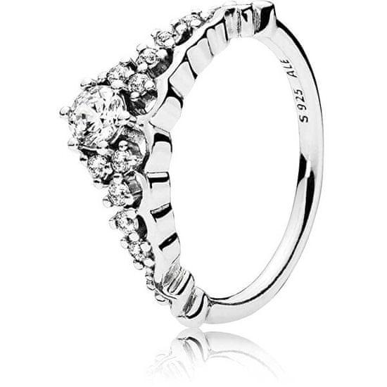 Pandora Třpytivý stříbrný prsten Diadém 196226CZ stříbro 925/1000