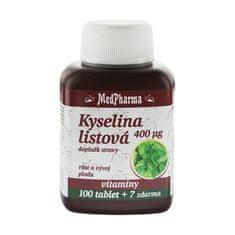 MedPharma Kyselina listová 400 mikrogramov 100 tbl. + 7 tbl. ZD ARMA