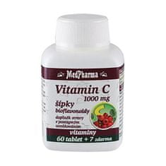 MedPharma Vitamín C 1000 mg so šípkami predĺžený účinok 60 tbl. + 7 tbl. ZD ARMA