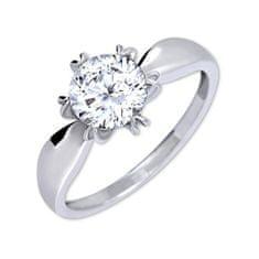 Brilio Silver Izrazit zaročni prstan 426 001 00502 04 - 2,13 g (Obseg 54 mm) srebro 925/1000
