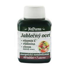 MedPharma Jablčný ocot + vitamín C + vláknina + chróm 60 tbl. + 7 tbl. ZD ARMA