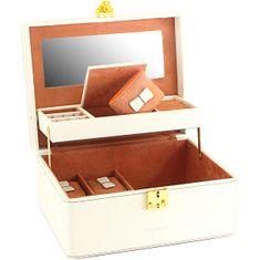 Friedrich Lederwaren Škatla za nakit smetana / rjava Ascot 20124-1