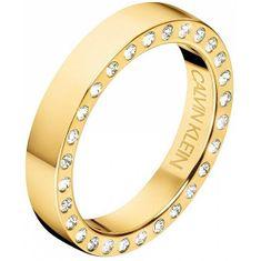 Calvin Klein Luxusní pozlacený prsten s krystaly Hook KJ06JR1401 (Obvod 52 mm)