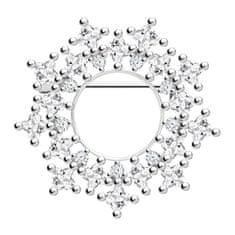 Preciosa Originální stříbrná brož Orion 5259 00 stříbro 925/1000