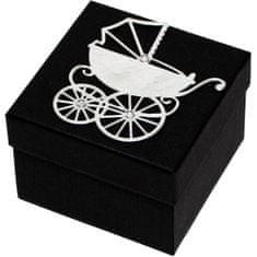 Giftisimo Luksuzna darilna škatla s srebrnim vozičkom