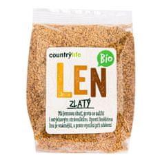 Country Life Len zlatý BIO 300g