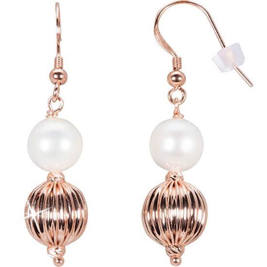 JwL Luxury Pearls Bronasti uhani s pravim biserom JL0442
