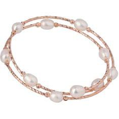 JwL Luxury Pearls Bronasta zapestnica s pravimi biseri JL0493