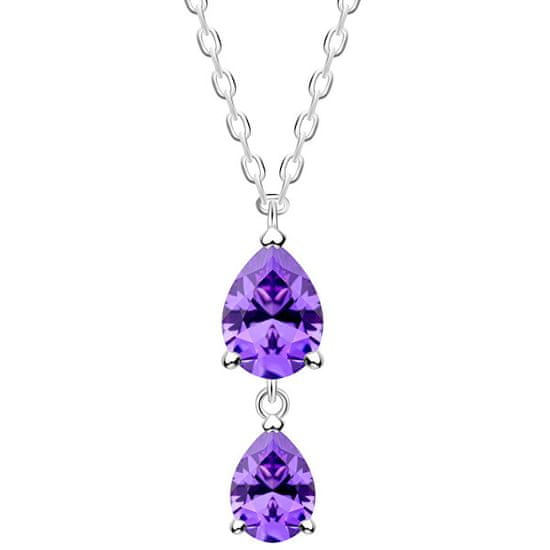 Preciosa CienkieSrebrny naszyjnik Lyra Violet 5264 56 srebro 925/1000