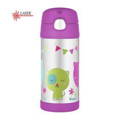 Thermos FUNtainer Baby termos ze słomką - kot 355 ml