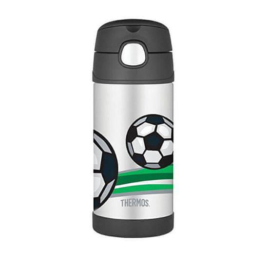 Thermos FUNtainer Dětská termoska s brčkem - fotbal 355 ml