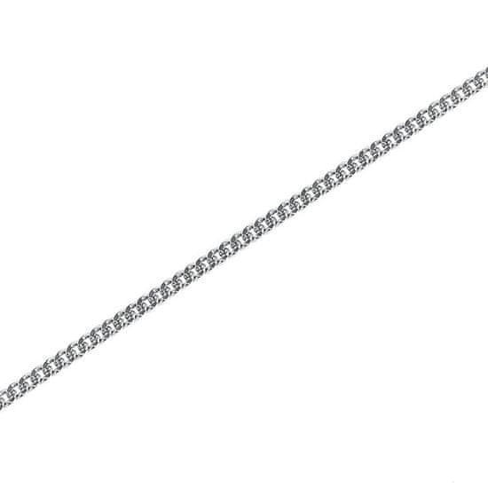 Brilio Silver Jemný stříbrný řetízek Pancer 55 cm 471 086 000178 04 stříbro 925/1000