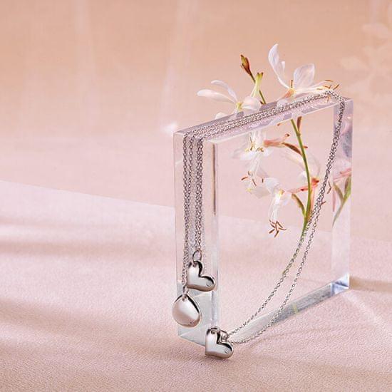 Hot Diamonds Srebrna ogrlica s pravim diamantom Iris DP702 (veriga, obesek) srebro 925/1000