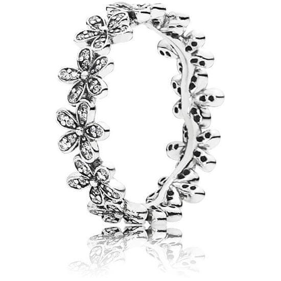 Pandora Třpytivý sedmikráskový prsten 190934CZ stříbro 925/1000