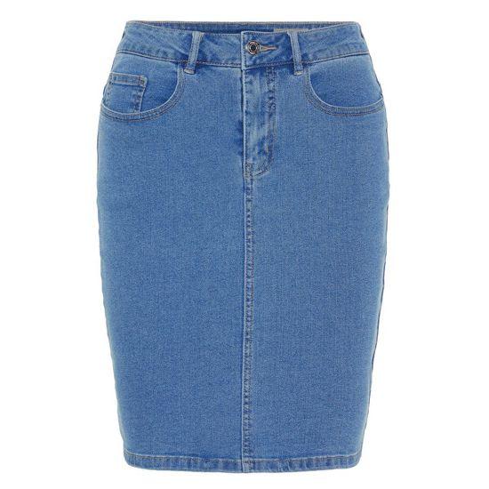 Vero Moda Žensko krilo VMHOT NINE 10193076 Light Blue Denim
