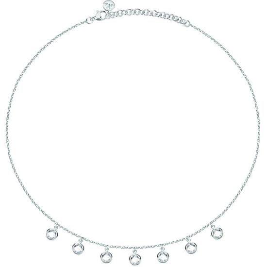 Morellato Stalowy naszyjnik z kryształkami Gipsy SAQG04