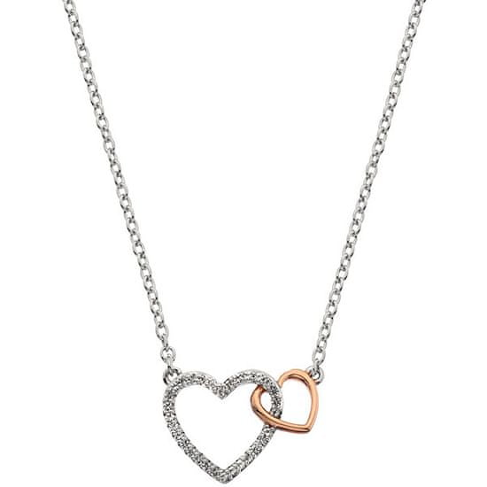 Hot Diamonds Srebrna ogrlica s pravim diamantom Flora DP732 srebro 925/1000