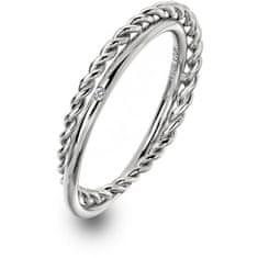 Hot Diamonds Luxusní stříbrný prsten s pravým diamantem Jasmine DR210 (Obvod 51 mm) stříbro 925/1000