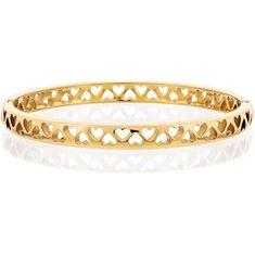 Tommy Hilfiger Solidne pozłacane złoto bransoletka z sercami TH2701042