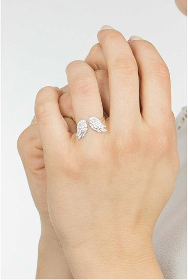 Amen Oryginalny Srebrny pierścionek z cyrkoniami Anioły RW srebro 925/1000