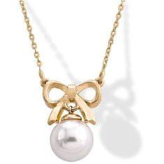 Stříbrný náhrdelník s perlou a mašličkou 15300.01.1.000.010.1 stříbro 925/1000