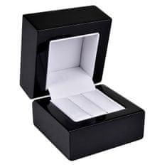 Jan KOS Drevená krabička na náušnice alebo snubné prstene BB-2 / NA / A25