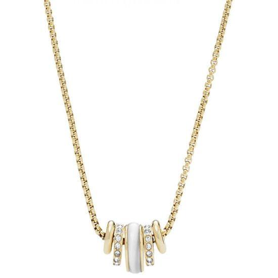Fossil Pozlacený ocelový náhrdelník JF02957710