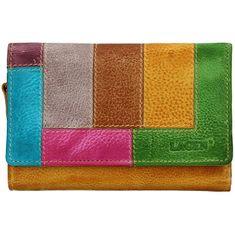 Lagen Női bőr pénztárca LG-11/D Yellow/Multi
