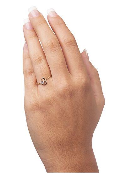 Brilio Zaročni prstan s srcem 226 001 01033 rumeno zlato 585/1000