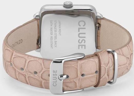 Cluse La Tétragone Silver/Soft Almond Alligator CL60019