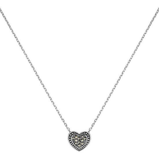 Engelsrufer Stříbrný náhrdelník Srdce s markazity ERN-HEART-MA stříbro 925/1000