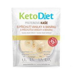 KetoDiet Proteinová kaše s příchutí vanilky a banánu 7 x 27 g