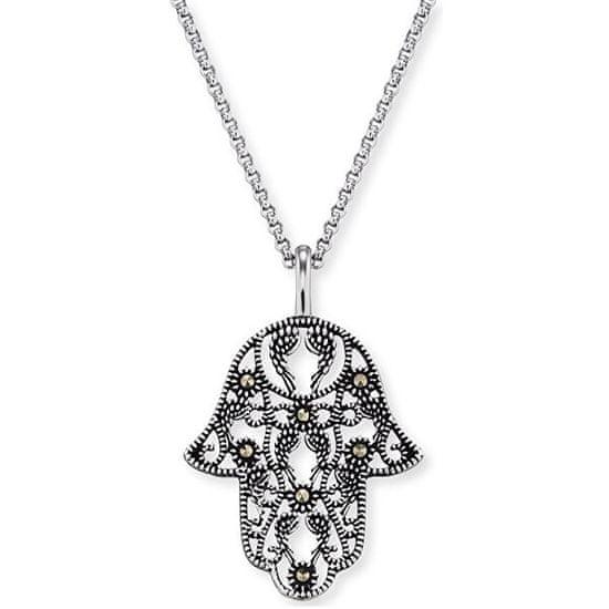 Engelsrufer Stříbrný náhrdelník Ruka Fatimy s markazity ERN-LILHAND-MA stříbro 925/1000