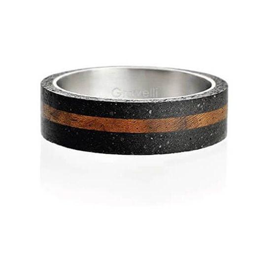Gravelli Betonový prsten antracitový Simple Wood GJRUWOA001