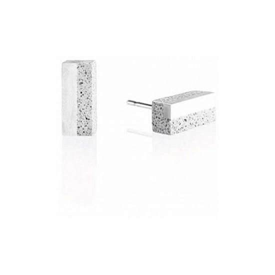 Gravelli Náušnice z betonu a oceli Block Steel GJEWSSG004UN