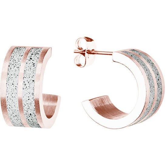 Gravelli Kör alakú acél fülbevalók Fusion GJEWRGG101UN