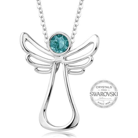 Levien Naszyjnik z turkusowym kryształem Guardian Angel