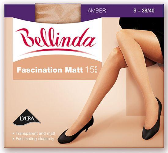 Bellinda Ženske nogavice Fascination Matt 15 DEN Almond BE225102 -116