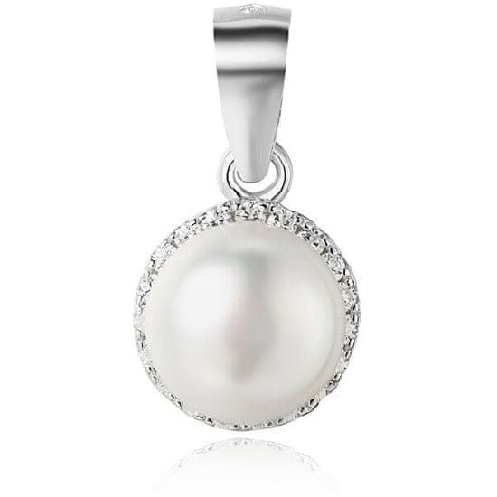 Beneto Ezüst medál édesvízi gyöngykel AGH97 ezüst 925/1000