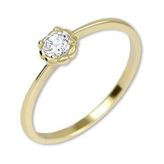 Brilio Něžný zásnubní prsten ze zlata 226 001 01034 (Obvod 54 mm)