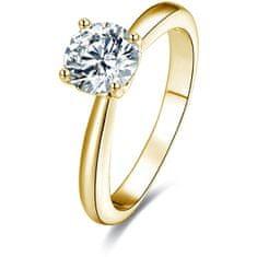 Beneto Pozłacane Srebrny pierścień z kryształkami AGG202 (obwód 58 mm) srebro 925/1000