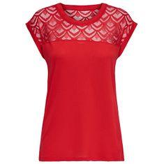 ONLY Dámské triko ONLNICOLE 15151008 High Risk Red (Velikost L)