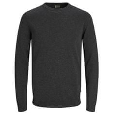 Jack&Jones Męska sweter JJEBASIC KNIT CREW NECK NOOS Dark Grey Melange (Wielkość S)