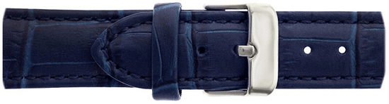 Frederic Graff Silver Mont Fort Croco Blue Leather FBJ-B038S